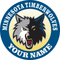 Minnesota Timberwoves Customized Logo iron on sticker