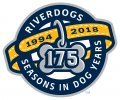 Charleston Riverdogs 2018 Anniversary Logo iron on sticker