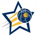 Indiana Pacers Basketball Goal Star logo iron on sticker