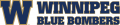 Winnipeg Blue Bombers 2012-Pres Wordmark Logo iron on sticker