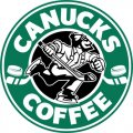 Vancouver Canucks Starbucks Coffee Logo iron on sticker