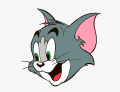 Tom and Jerry Logo 15 iron on sticker