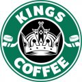 Los Angeles Kings Starbucks Coffee Logo iron on sticker
