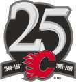 Calgary Flames 2005 06 Anniversary Logo decal sticker