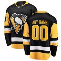 Pittsburgh Penguins Custom Letter and Number Kits for Black home Jersey