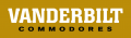 Vanderbilt Commodores 2008-Pres Wordmark Logo decal sticker