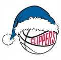 Los Angeles Clippers Basketball Christmas hat logo iron on sticker