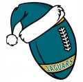 Jacksonville Jaguars Football Christmas hat logo decal sticker