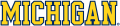 Michigan Wolverines 1996-Pres Wordmark Logo 08 iron on sticker