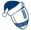 Indianapolis Colts Football Christmas hat logo decal sticker