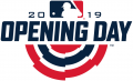 MLB Opening Day 2019 Logo iron on sticker
