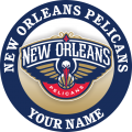 New Orleans Pelicans Customized Logo iron on sticker