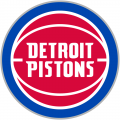 Detroit Pistons 2017-2018 Pres Primary Logo iron on sticker
