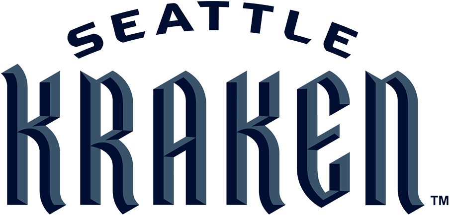 Seattle Kraken 2021 22-Pres Wordmark Logo 01 iron on sticker