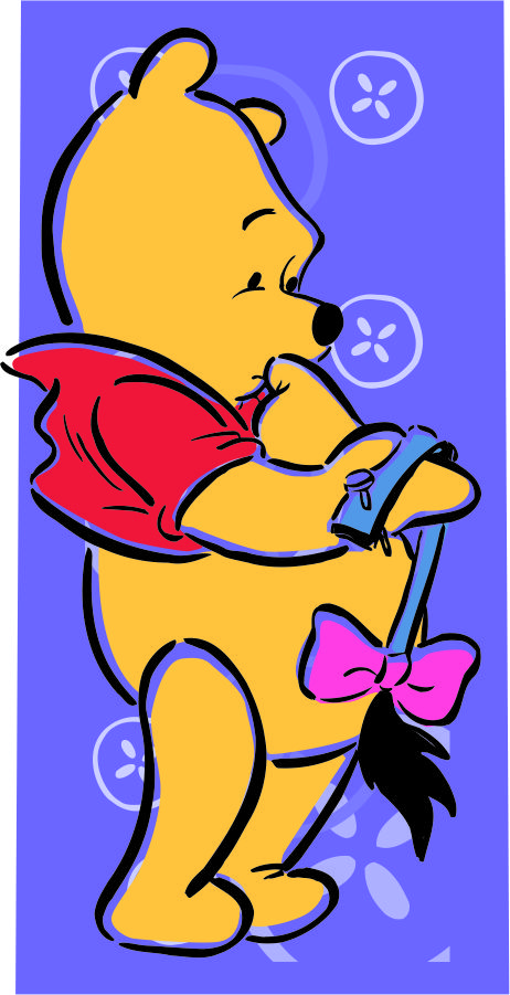 Disney Pooh Logo 16 decal sticker
