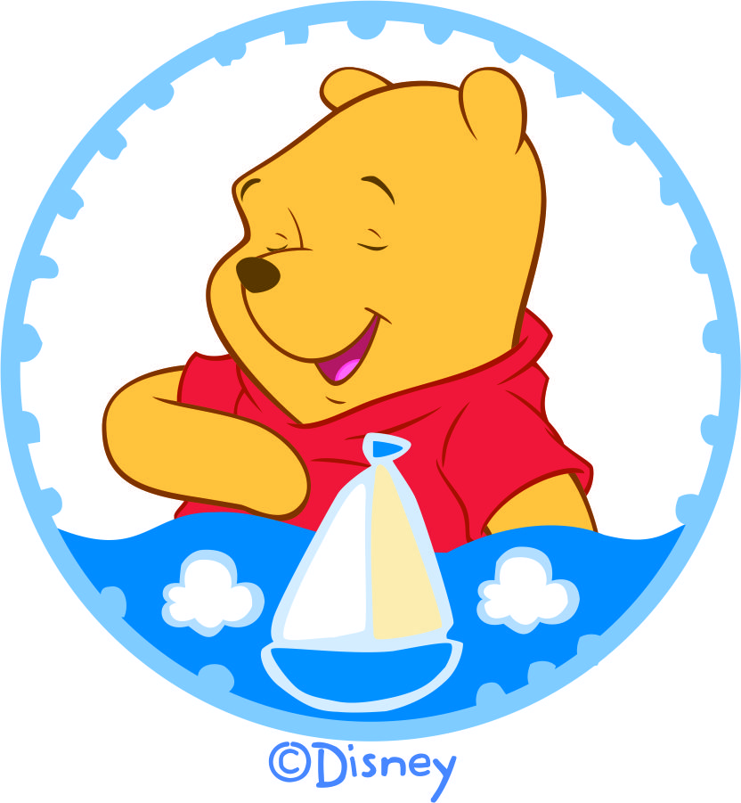 Disney Pooh Logo 18 decal sticker