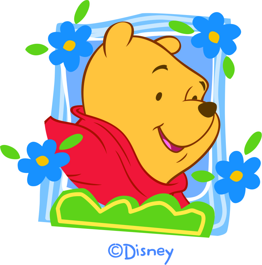 Disney Pooh Logo 24 decal sticker