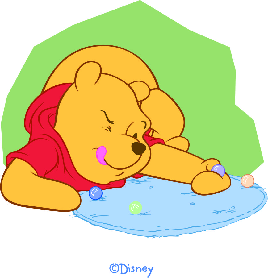 Disney Pooh Logo 28 decal sticker